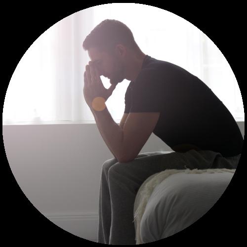 Man struggling with bipolar